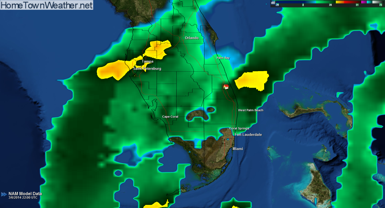 Simulated Radar 8pm