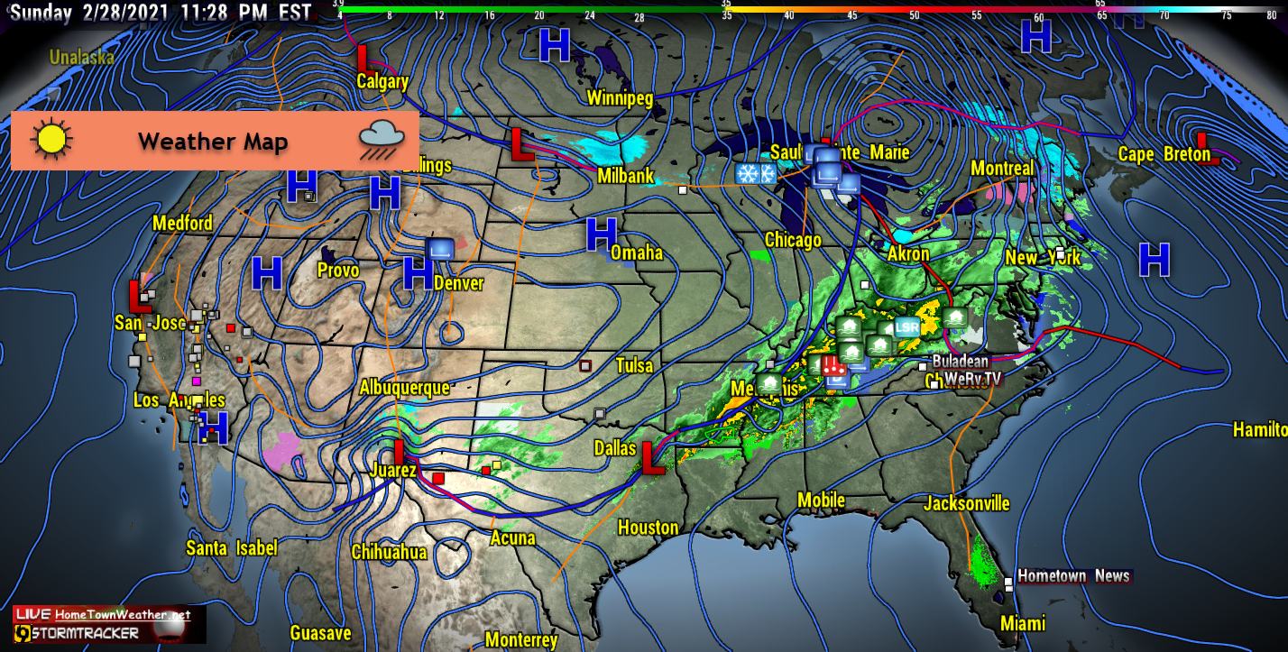 Us Daily Weather Map Maps Of USA Summer Weather Forecast US - The us weather map